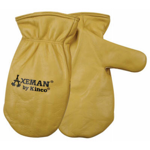 Kinco 1930-M Cowhide Leather Axeman Style Insulated Mittens Medium