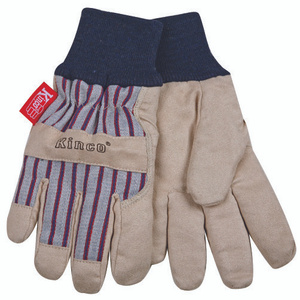 Kinco 1927KW-Y Ultrasuede Palm Thermal Lined Knit Wrist Gloves Youth Age 7-12