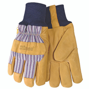 Kinco 1927KW-XL Premium Pigskin Leather Palm Thermal Lined Knit Wrist Gloves Extra-Large