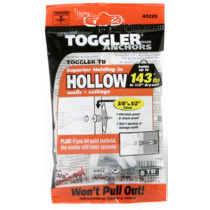Mechanical Plastics 50300 Toggler 3/8 By 1/2 Inch Tb Anchor