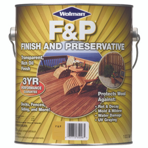 Wolman 14396 F & P Natural F&P Finish And Preservative Gallon Water Based
