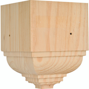 Waddell OCTB-52 The Moulding Connection 5-1/4 Inch Pine Outside Corner Block