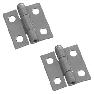 Stanley National N141-606 National 1 By 1 Inch Zinc Narrow Hinge