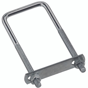 Stanley National N222-364 National 5/16 Inch Diameter By 2 Inch Width By 5 Inch Height Zinc Square U Bolt