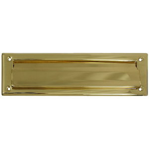 Stanley National N197-905 National 2 Inch Width By 11 Inch Length Polished Solid Brass Mail Slot