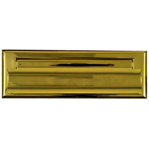 Stanley National N197-913 National 1-1/2 Inch Width By 7 Inch Length Polished Solid Brass Mail Slot
