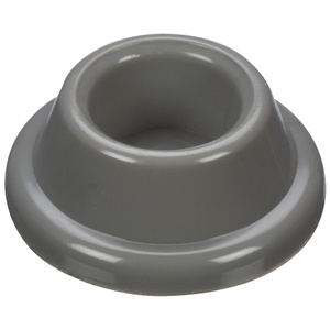 Stanley National N215-889 Concave Rubber Door Bumpers 1-7/8 Inch Gray Pack Of 2