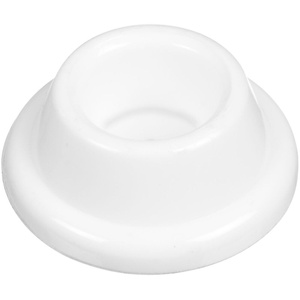 Stanley National N243-816 Concave Rubber Door Bumpers 1-7/8 Inch White Pack Of 2