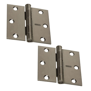 Stanley National N324-913 National 3 Inch Square Door Hinges Pewter Pack Of 2