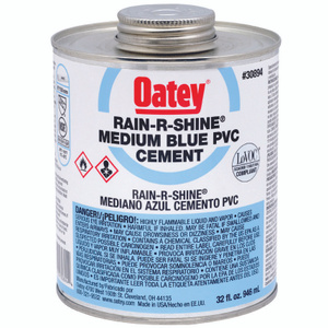 Oatey 30894 Rain R Shine PVC Cement Blue 32 Ounce