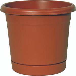 True Temper RR1606TC Southern Patio 16 Inch Rolled Rim Planter And Saucer