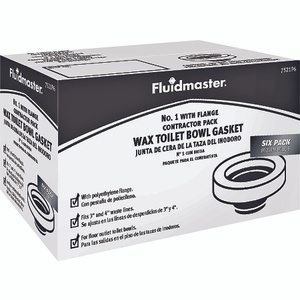 Fluidmaster 7511P6/7521P6 Wax Rings With Flange (Pack Of 6)