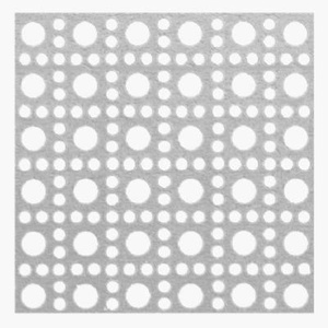 Steelworks Boltmaster 11257 Silver Lincane Aluminum Perforated Sheet 24 Inch By 36 Inch