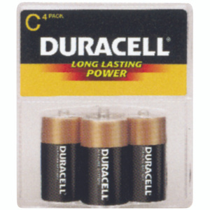 Duracell MN1400R4ZX Power Check 4 Pack C Alk Battery