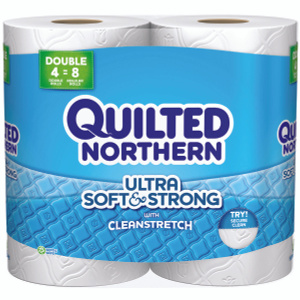 Georgia Pacific 96361 Quilted Northern Soft & Strong White Bath Tissue (4 Rolls)