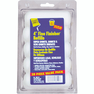 Foampro 165-10 4 Inch Fine Finish 10 Pack Refills For Clears And Enamels