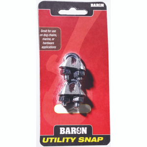 Baron C-260-3/16 3/16Inch Galvanized Wire Rope Clips Pack Of 2