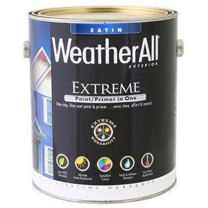 General Paint WAES9-GL WeatherAll Gallon White Satin Paint
