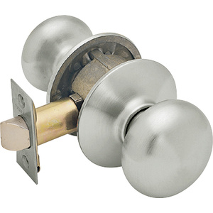 Schlage Lock F10 PLY 619 Plymouth Plymouth Satin Nickel Passage Lockset