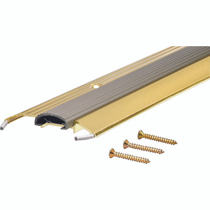 MD Building Products 09043 36 Inch Bright Gold Threshold With Vinyl Insert
