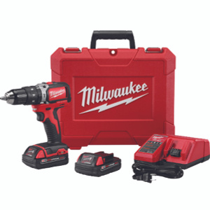 Milwaukee 2702-22CT M18 M18 1/2 Inch Compact Brushless Hammer Drill Driver Kit 18 Volt