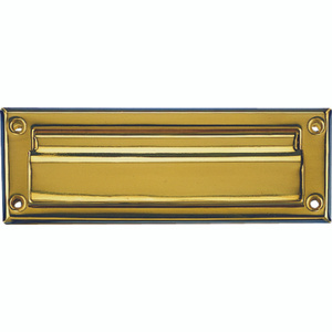 Mintcraft HR6001PB-3L Mail Slot 7 Inch By 1-1/2 Inch Solid Brass With A Polished Brass Finish