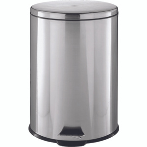 HomeBasix LYP07F3-3L Round Step Trash Can Stainless Steel 1.85 Gallon Capacity