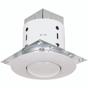 Power Zone 30002WH3L 5 Inch White Mini Recessed Can With Open Trim