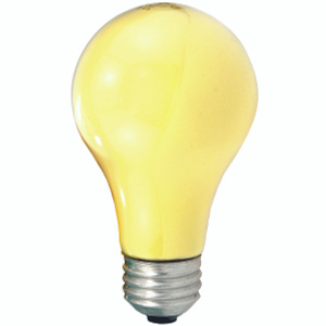 Sylvania 10390 60 Watt Bug Light Bulb Yellow 2 Pack
