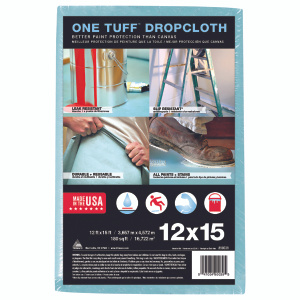Trimaco 90039 Drop Cloth Coated 12 Foot By 15 Foot