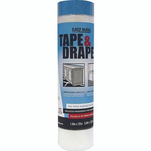 Trimaco 949660 Easy Mask 72 Inch By 75 Foot Drop Cloth