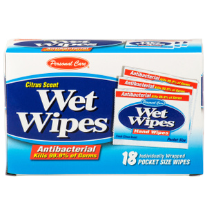PCP 92131-3 Citrus Scent Wet Wipes Pack Of 18