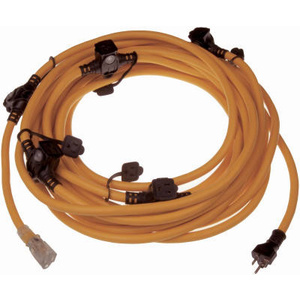Marmon Home 614-16367BB 50 Foot 12/3 Multi Outlet Cord