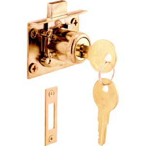 Prime Line U 10666 Lock Drawer/Cabinet Brass Plated