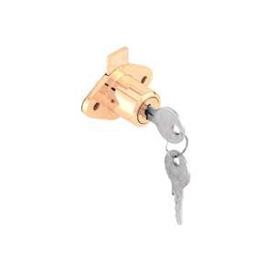 Prime Line U 9947KA Drawer And Cabinet Lock Brass Plated Steel
