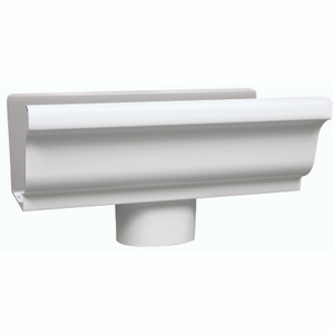 Amerimax 27010 5 Inch White Aluminum End/Drop