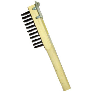 Abco 01713 Heavy Duty Wire Scratch Brush With Scraper