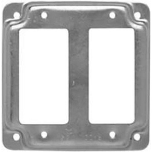 Raco 809C 4 Inch Square 2 Gfi Receptacle Cover