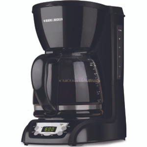 Applica DLX1050B Black & Decker 12 Cup Programmable Coffee Maker With Glass Carafe Black