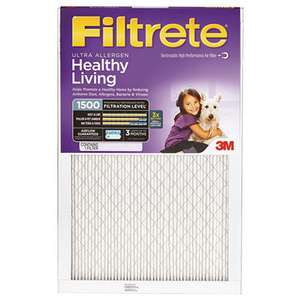 3M 2015-6 Filtrete Healthy Living Ultra Allergen Filters 25 Inch By 25 Inch By 1 Inch