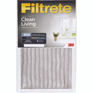 3M 320DC-6 Filtrete Clean Living Basic Dust Filters 12 Inch By 24 Inch By 1 Inch