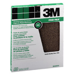 3M 99401 Sand Blaster Aluminum Oxide Sandpaper Sheets, 220 Grit, 9 Inch By 11 Inch, 25 Pack