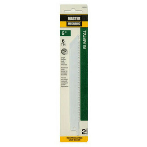 Master Mechanic 698946 2 Pack 6 Inch 6T Reciprocating Blade