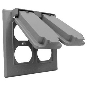 Hubbell 2C-2D Master Electrician Gray Weatherproof 2G Snap Cover