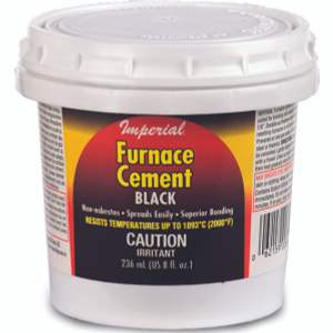 Imperial Manufacturing KK0077-A Black Furnace Cement Premixed