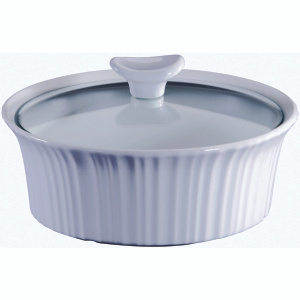 World Kitchen 1105932 Corningware 1.5QT WHT RND Casserole