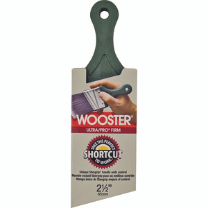 Wooster 4187-2-1/2 Ultra Pro Firm Nylon Polyester Angle Shortcut Shergrip Brush 2-1/2 Inch