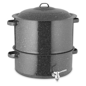 Columbian Home 6316-1 Granite Ware Covered Steamer With Faucet 19 Quart