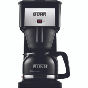 Bunn O Matic GRB 10 Count Black Coffee Brewer