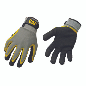 Cat Gloves CAT017415L Caterpillar Polyester Double Coated Latex Palm Gloves Large